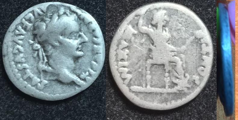 Es original mi denario de Tiberio o es una falsificación?? Image
