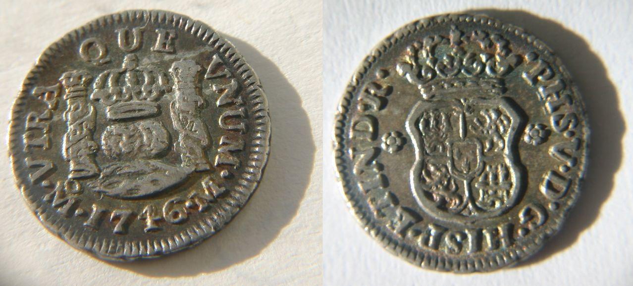 1/2 real 1746-Mo M, Felipe V, Méjico. Medio_Real_1746_M_jico