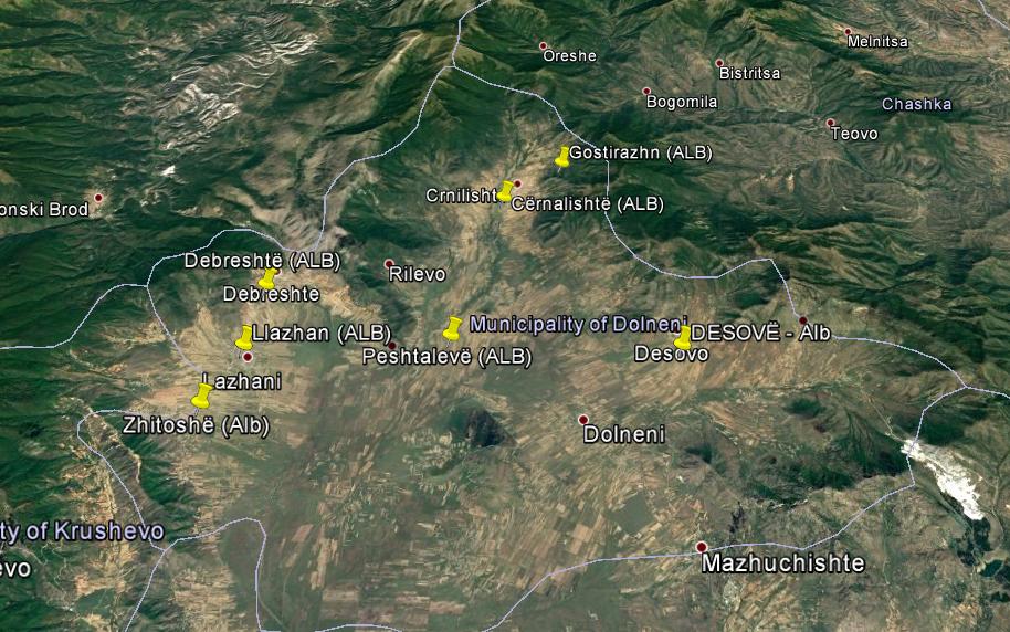 Shqiptaret ne komunen e Dollnenit  Peshtal