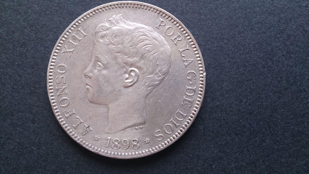 5 pesetas Alfonso XIII 1898 18*98 SGV DSC_0402