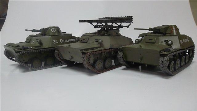 Катюша БМ-8-24 на Т-40, 1/35, (Старт) C7831c6c5b7b