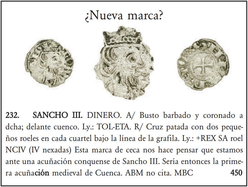 Dinero de Sancho III en subasta Herrero. Extraña marca. Imagen_catalogo_snacho_iii