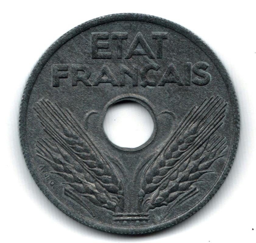20 centimes 1941-Francia-ETAT FRANÇAIS- 20_centimes_Francia_1941a