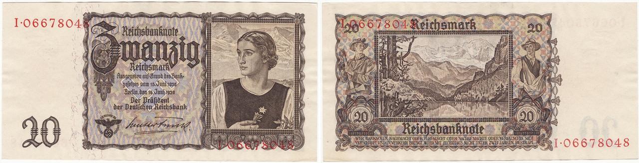 20 Reichsmark de 1939. 0161