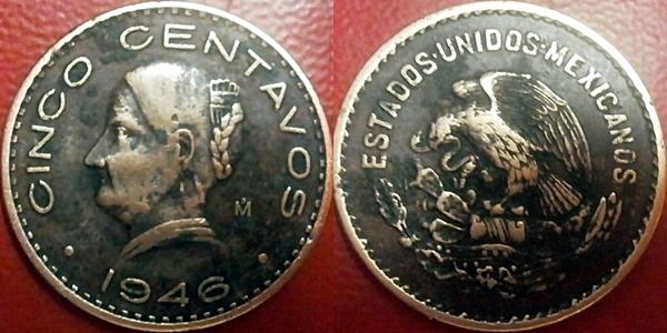 5 centavos 1942 mexico de josefa ortiz de dominguez serie completada 1942-1946 y 1951-1955 Page