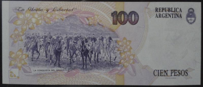 Argentina, 100 Pesos convertibles Arg345br