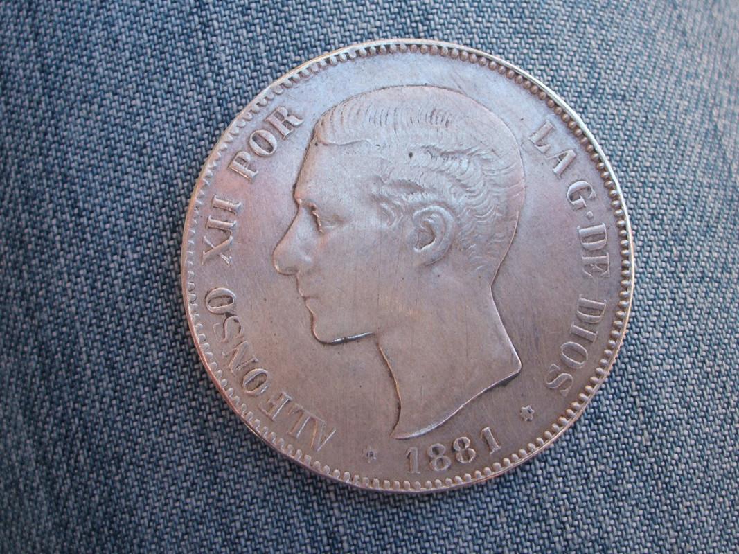 5 pesetas 1881 - 5 Pesetas 1881. MSM. Alfonso XII (2). Falsa. 010