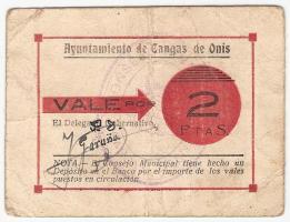 2 Pesetas de Cangas de Onís. Guerra Civil 2_Ptas