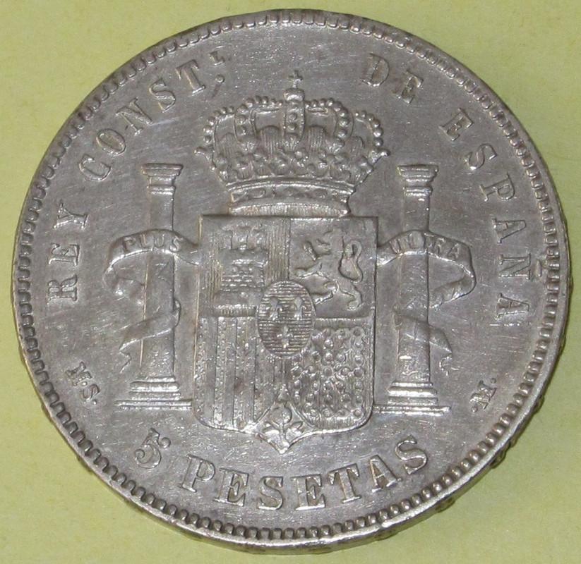 Duros de Plata de Alfonso XII 1887_MSMb