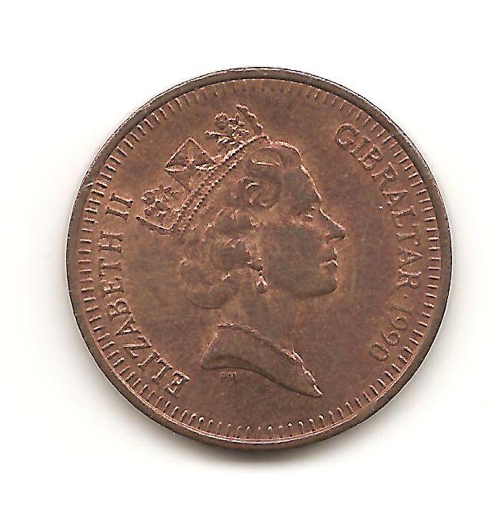1 penny de Gibraltar año 1990 Image