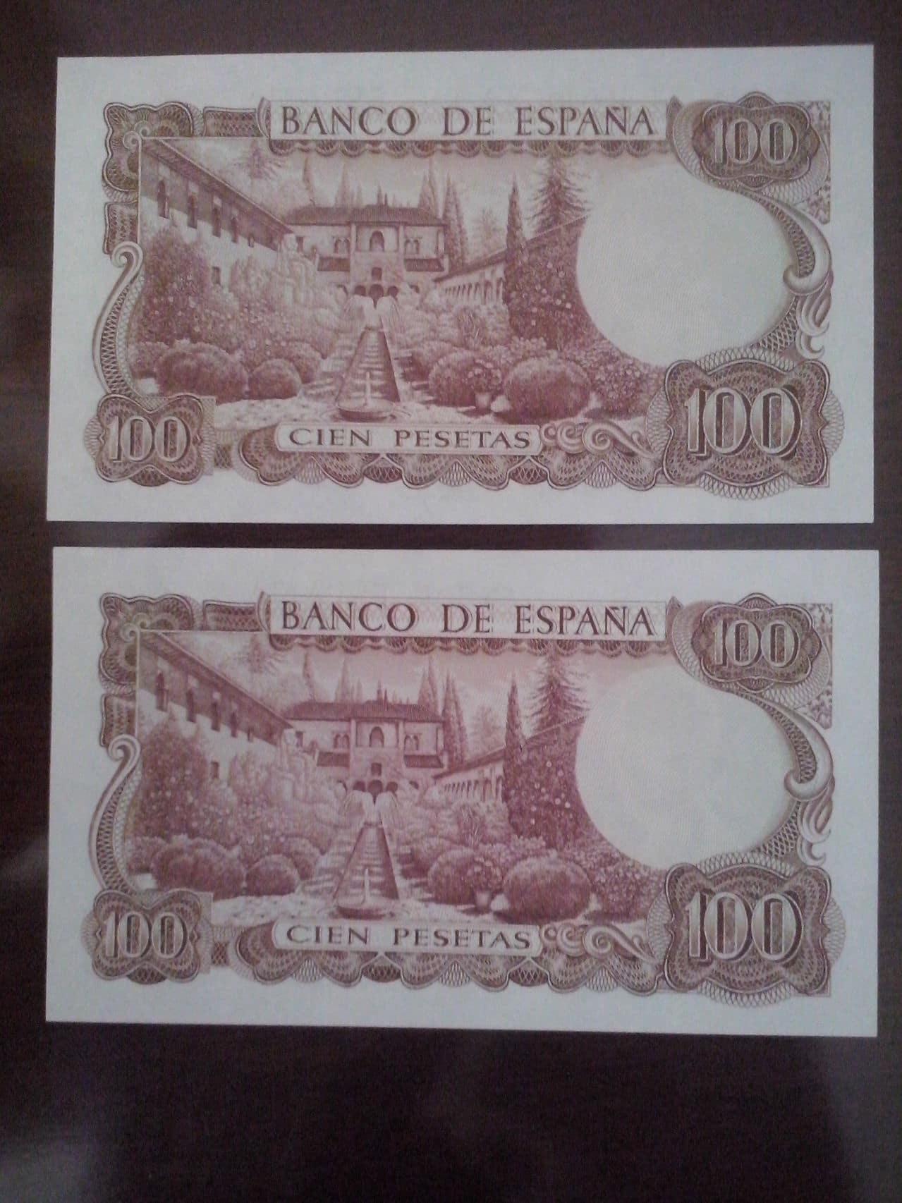 100 Pesetas 1970 (Dos Parejas) CAM00134