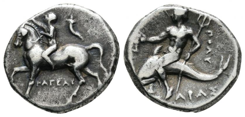 Calabria. Taras. Dicracma (272-235 BC). De Tauler y Fau 001-23-29
