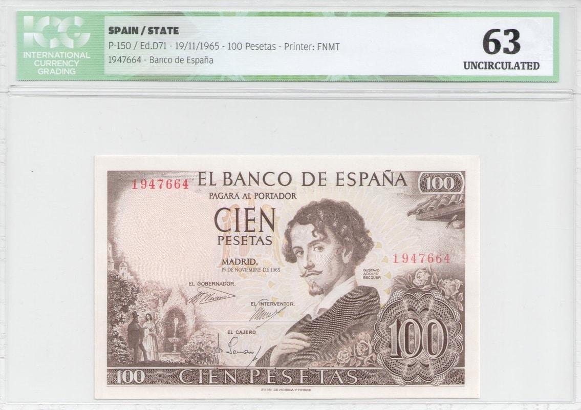 Colección de billetes españoles, sin serie o serie A de Sefcor - Página 2 100_del_65_anverso