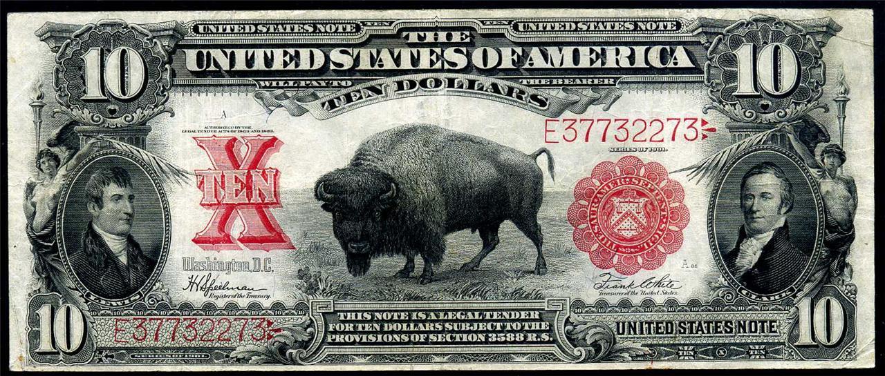 5 Cents, (Bufalo). U.S.A. 1938. Denver  1901_10_dollar_front_unframed