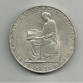 20 escudos portugueses 1953  Renovación financiera 20_escudos_1953_Portugal_renovacion_financiera