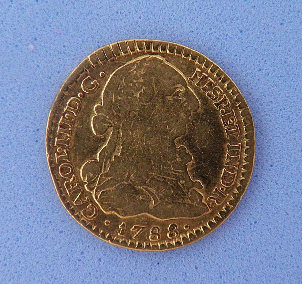 1 Escudo Carlos III 1788 Popayán P6060012