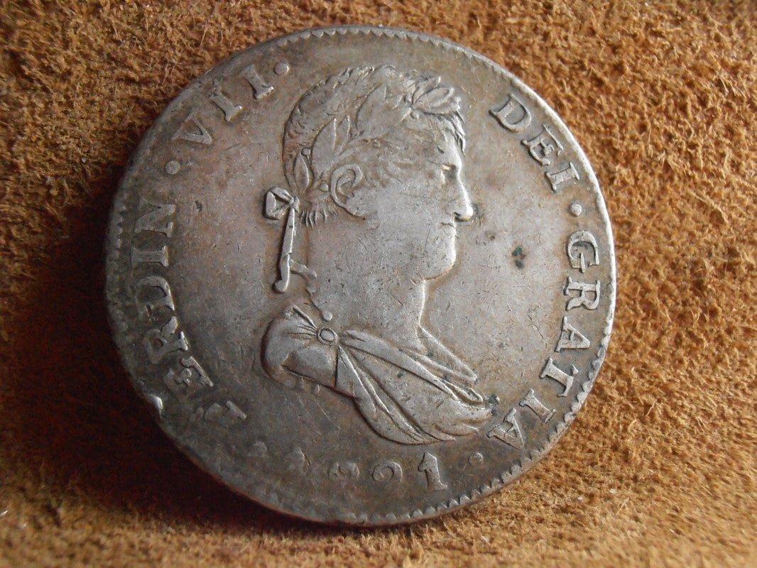 8 Reales 1821. Fernando VII. Guadalajara. FS P5140007