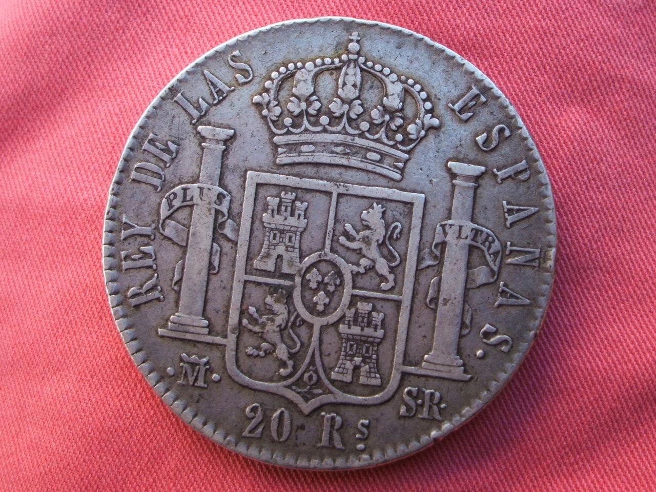 1822 - 20 Reales 1822 Fernando VII - Madrid. S-R. Fsi_1
