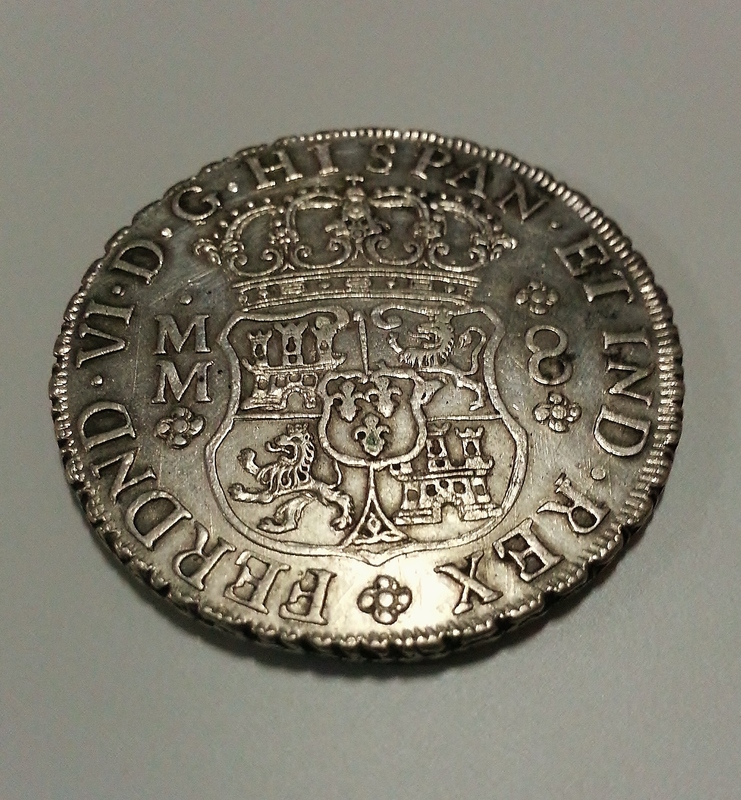 8 reales columnario de 1759. Fernando VI, México. 20151227_155157