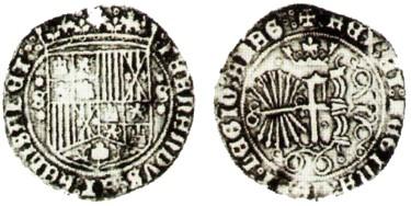 1 real de los reyes católicos,ceca de Sevilla. 1_real_para_santo_domingo