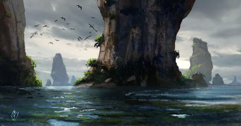 Erickar Avery - Between Corks 'n Anchors (backstory) - Page 2 Fantasy_ocean_landscape_by_jjpeabody-d882n8b