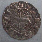 """Dinero """"pepión"""" de Fernando IV. (1295-1312). Toledo. 18mm"""