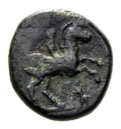 Bronce de Filipo II. Macedonia (ΦIΛIΠΠOY). Reverso