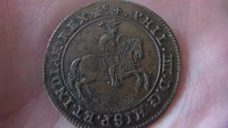 Jetón de Felipe IV. Bruselas. Año 1651. Negociaciones de Paz con Francia. SAM_1208