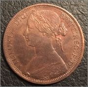 One penny 1870 Image