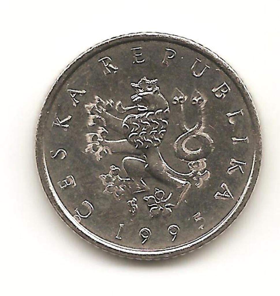 1 koruna de República Checa año 1995 Image