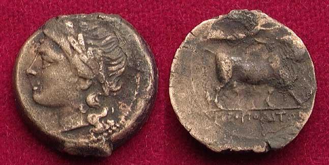 Bronce de Neapolis (Campania, ca. 275-250 a.C.) B3868
