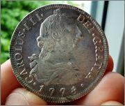 8 reales 1778. Carlos III. Potosí. Image