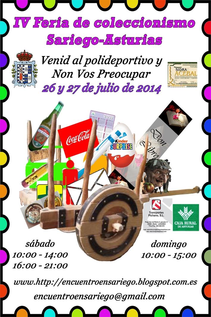 4ª Feria del coleccionismo de Sariego(Asturias). 26 y 27 de Julio 2014 Cartel2014_1