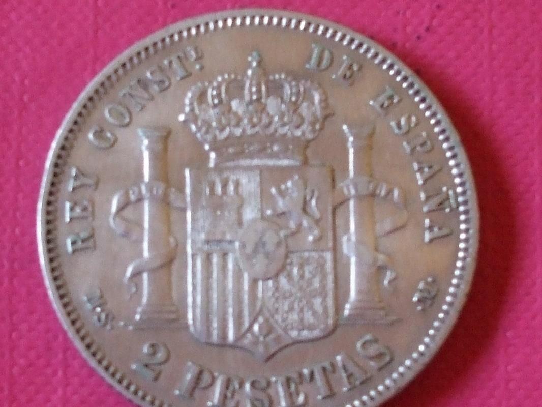 2 pesetas 1882 (*18-82). Alfonso XII. MSM DSCF3448