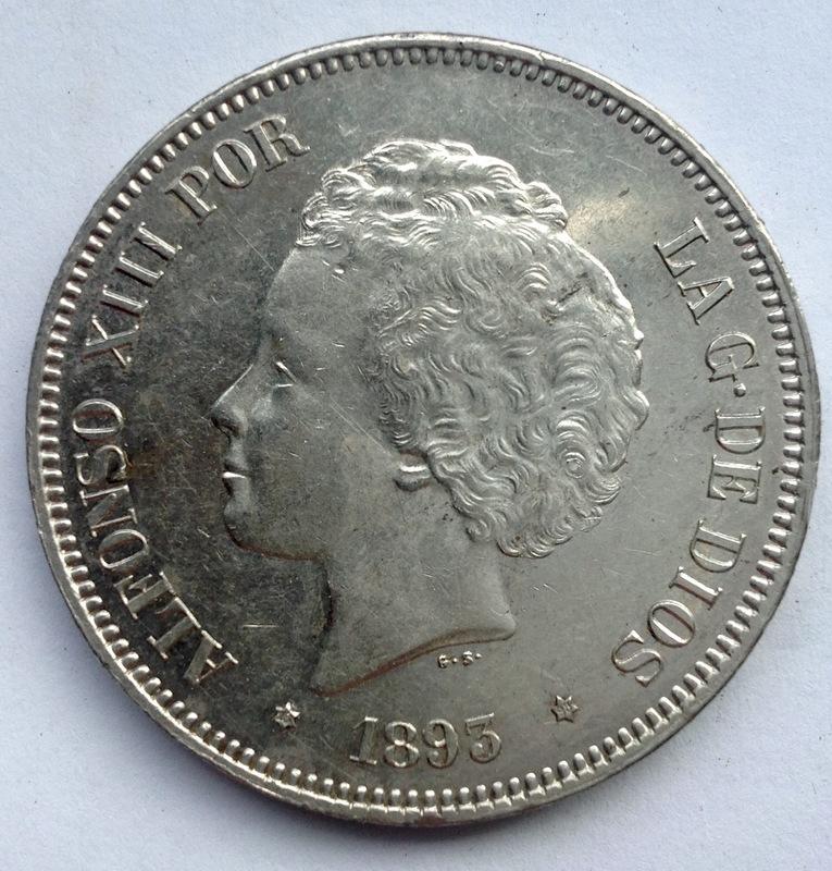 5 pesetas 1893. Alfonso XIII. REVERSO12 Dedit - Página 4 Image