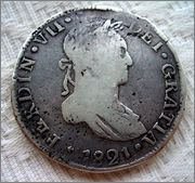 8 reales 1821 ceca Durango Image