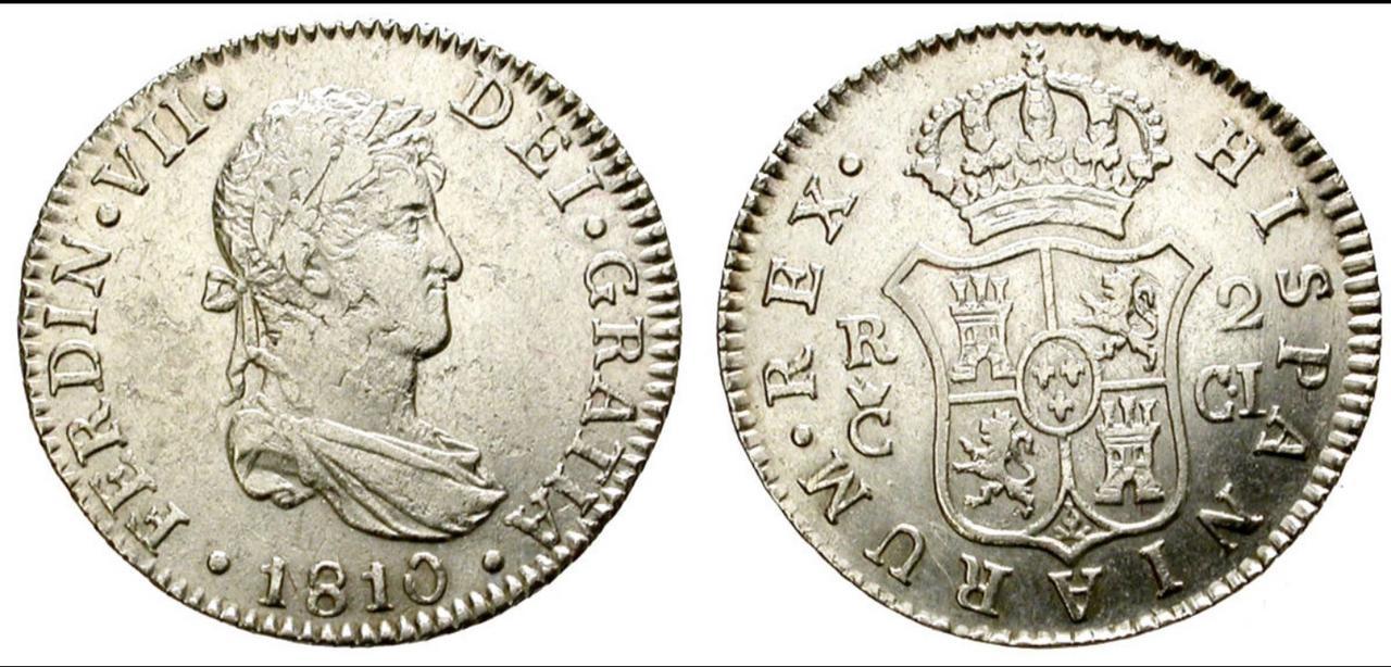 2 Reales 1810. Fernando VII. Cádiz. Opinión. IMG_1633