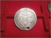 Austria alemana Sacro Imperio Romano Bohemia Carlos VI 15 Kreuzer 1738  P4280514