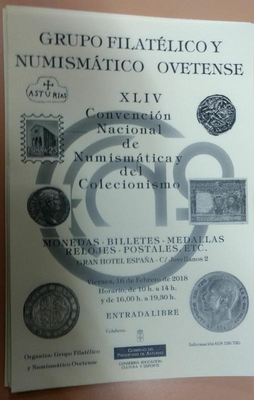 Convención numismática de Oviedo. Viernes 18 de Febrero de 2018 Cartel_convencion_Oviedo