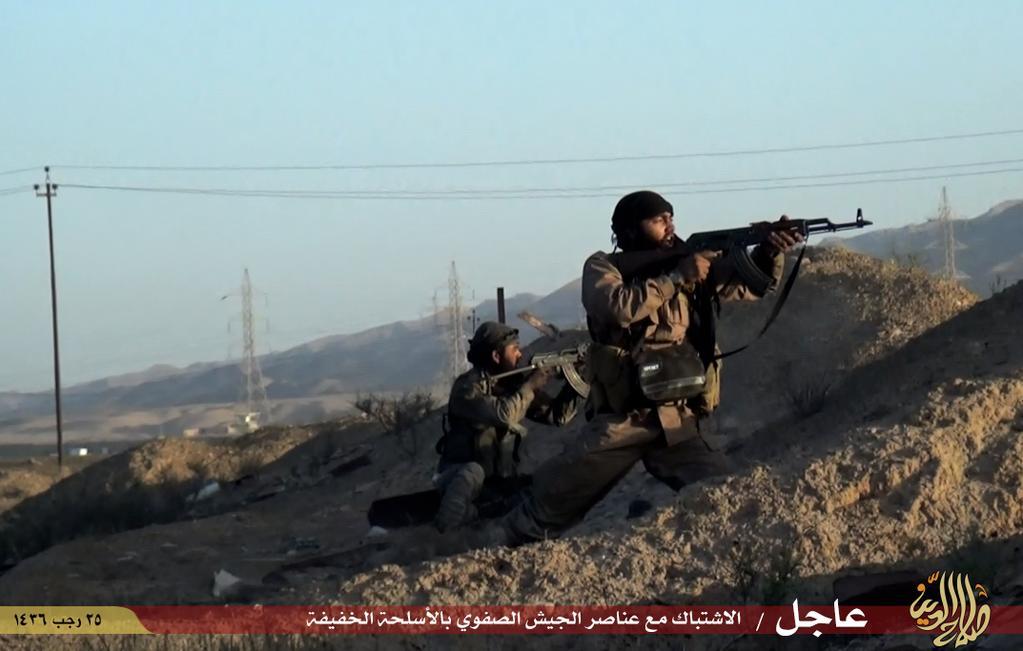 دولة الخلافة تسطر الملاحم معارك طاحنه في(العراق والشام) سدد الله الرمي وثبت الأقدام  IMG