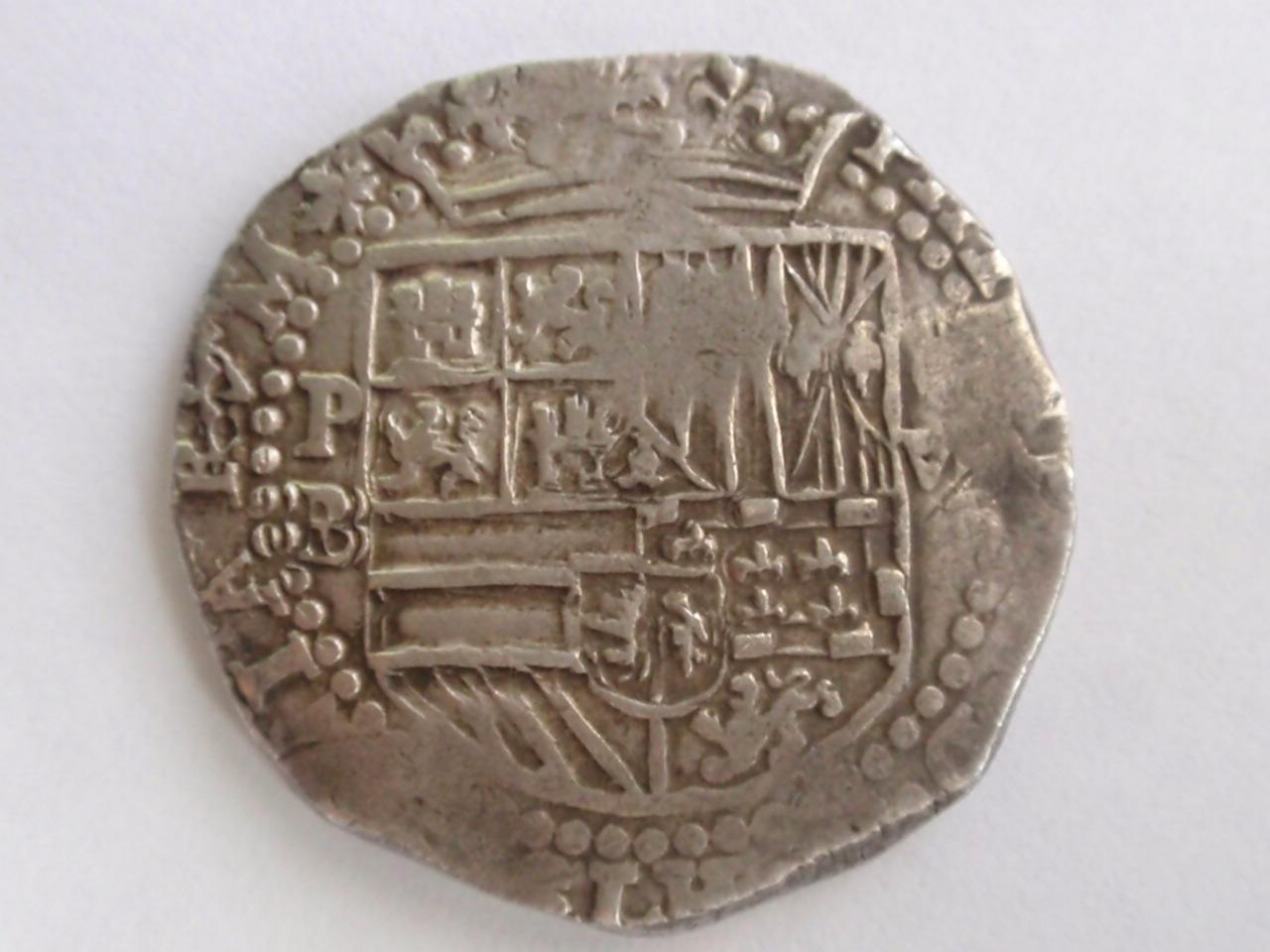 8 reales de Felipe II. Potosí. (Marqués de la Ensenada Dedit). FIIPotosi_001