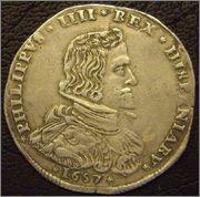 Filippo de 1657. Felipe IV. Milán Moedas_001
