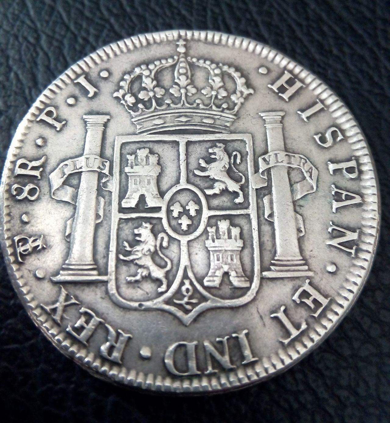 8 reales Fernando VII 1818 Potosí  IMG_20160222_134027