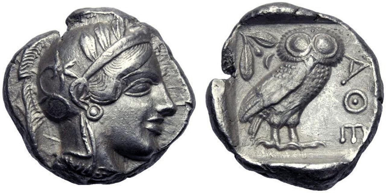 Tetradracma de Atenas, estilo clásico, periodo masivo. 250_2