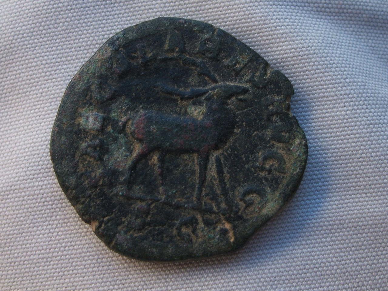 Sestercio de Filipo I - SAECVLARES AVGG S C - Ciervo. Roma 036