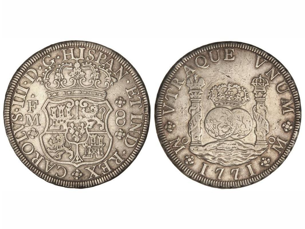 8 reales 1771. Carlos III. Méjico F.M. Columnario IMG_3282