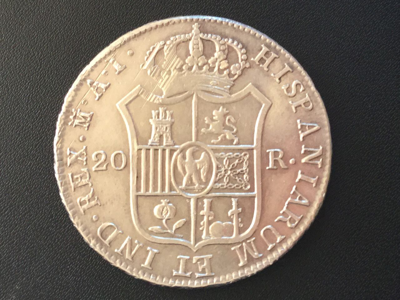 20 Reales Jose Napoleon 1809 Madrid Image