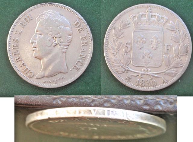 5 Francos de Carlos X. 1830. París (variante leyenda canto en relieve) 0_5_f_1830_canto_relieve_2