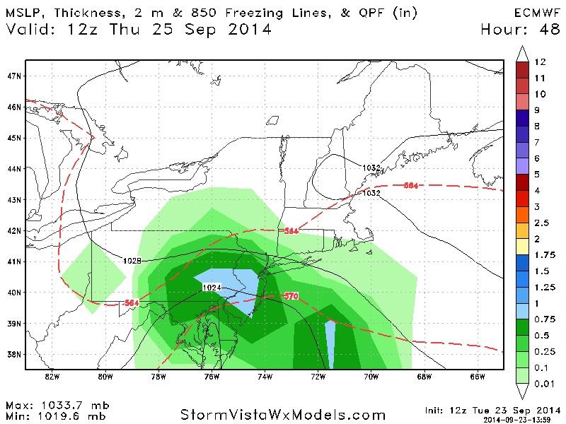 Coastal Storm 9/25/14 Image