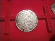 Austria alemana Sacro Imperio Romano Bohemia Carlos VI 15 Kreuzer 1738  P4280513